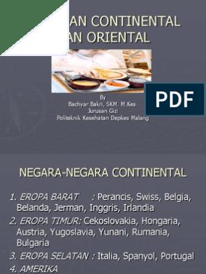 Ciri Makanan Continental Dan Oriental 09