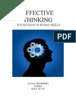 Effective Thinking
