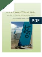 grade 7 sailing club parent booklet 2013