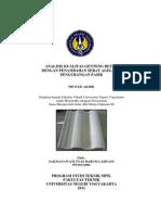 Analisis Kualitas Genteng Beton Dengan Penambahan Serat Agel Dan Pengurangan Pasir