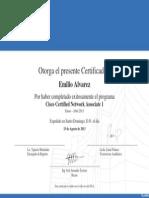 Certificado Cisco Certified Network Associate 1 Emilio