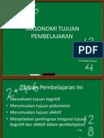 TAKSONOMI TUJUAN PEMBELAJARAN-1