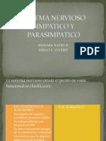 Sistema Nervioso Simpatico y Parasimpatico