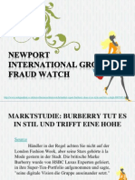 Newport International Group Fraud Watch Marktstudie