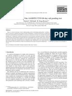 Re-Evaluation of the AASHTO 90-Day Salt Ponding Test