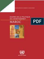 Examen de La Politique d'Investissement Au Maroc