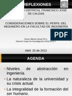 Consideraciones sobre el perfil del ingeniero en la Facultad de Ingeniería (Henry Diosa)