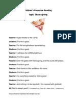 Children's Response Reading Thanksgiving Praise