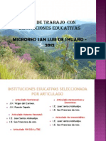 Plan Con Instituciones Educativas
