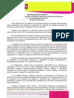 PRONUNCIAMIENTO FINAL 2º ENCUENTRO MESOAMERICANO DE DEFNSORAS