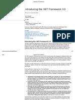 Introducing the .NET Framework 3