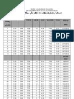 Imsakiah Ramadhan 2012