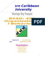Northern Caribbean University - Org. Behaviour