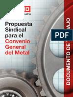 Propuesta Sindical Convenio General Del Metal