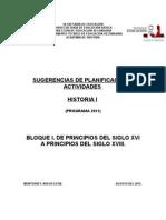 SUGERENCIAS DE PLANIFICACIÓN DE HISTORIA