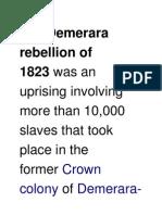 Demerara Rebellion of 1823