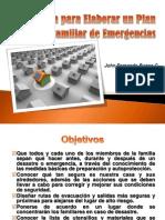 Guía para elaborar un plan familiar de emergencias
