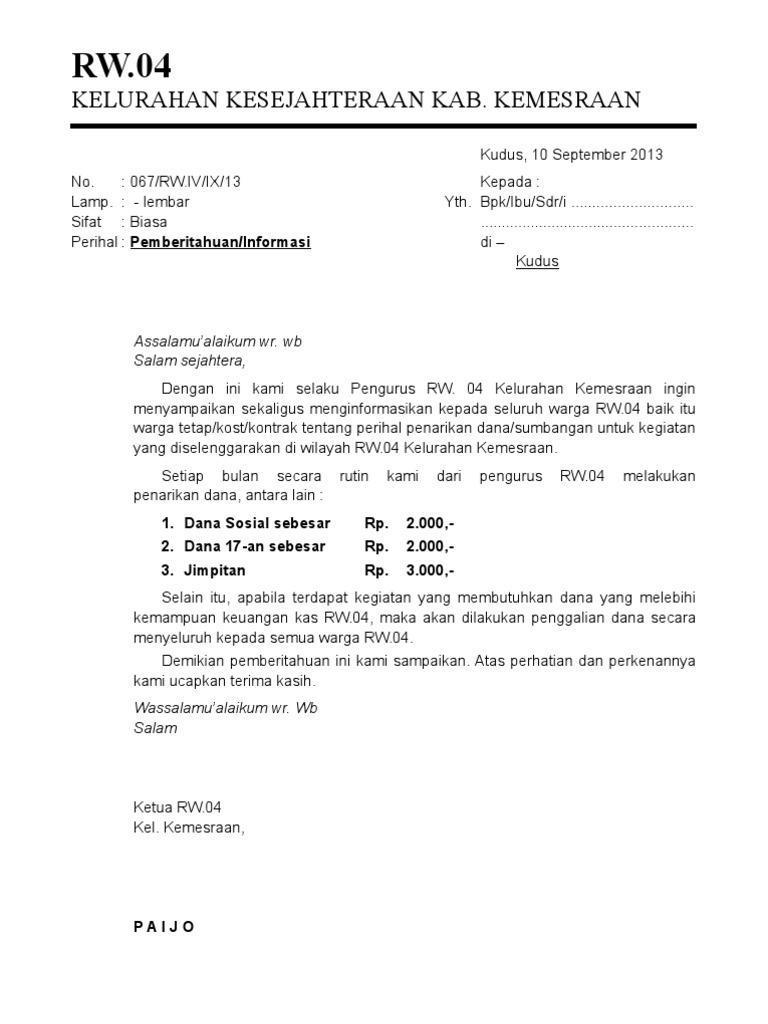 Created For Just One Purpose Contoh Surat Edaran Rt