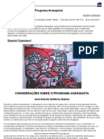 Consideracoes Sobre o Programa Anarquista - Anarkismo(1)