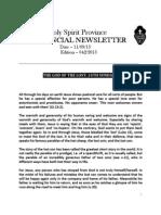 Provincial Newsletter - Ed 042 - 11 09 13