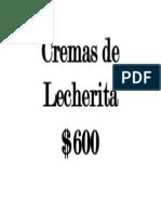 Cremas de Lecherita