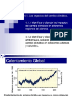 4 Cce 4, 4.1.1 Los Impactos Del Cambio Climatico2012 presentación de powerpoint para alumnos de cambio climatico