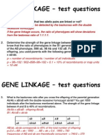 2.GENE LINKAGE - Test Questions