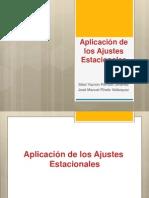 Aplicacion de Los Ajustes Estacionales