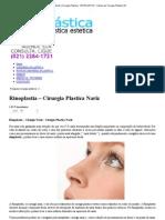 Rinoplastia - Cirurgia Plastica Nariz _ Cirurgia Plastica - BIOPLASTICA _ Clinica de Cirurgia Plastica RJ