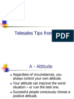 Telesales Tips From a - Z