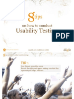8 tips on how to conduct usability testings