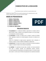 MODELOS COGNOSCITIVOS DE LA EDUCACIÓN
