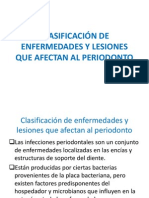 CLASIFICACIÓN DE ENFERMEDADES Y LESIONES QUE AFECTAN AL