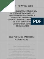 Presentacion Centreware Web