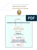 Primer Informe Quimica 2