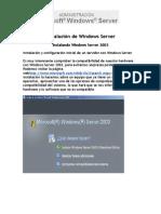 Instalación de Windows Server