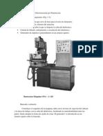 Partes de una máquina de Electroerosión por Penetración