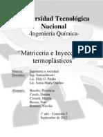 Matricería e inyección de termoplásticos
