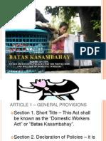 Kasambahay Law