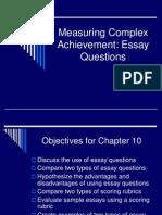 measuring complex achiemvents