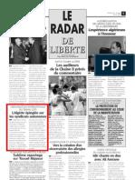 Radar de Liberté. (20 juin 2009)