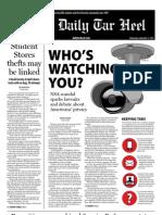 The Daily Tar Heel for September 11, 2013