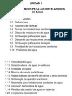 UNIDAD I-Datos Técnicos para Inst. Agua