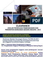 Clearance, Analisa Komponen Pembangunan (Materi 2)