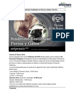 Sindrome Vestibular en Perros y Gatos on Line