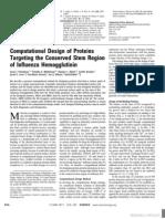 Computational Design of Proteins Targeting the Conserved Stem Region of Influenza Hemagglutinin