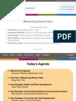 Measuring Shared Value Presentation