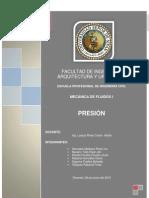 Presión - Mecánica de fluidos I