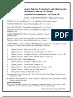 Ch 2 Word Assignment Sheet-2