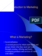 Introduction to Marketing MM I